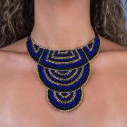 Dado - black royal blue and gold